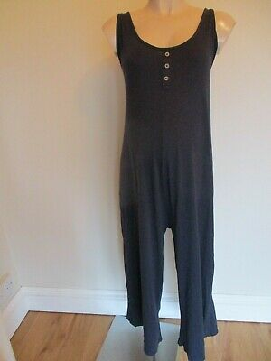 New Look Maternity Navy Blue Cropped Wide Leg Jumpsuit All In One Size 18