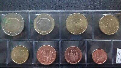 2 euro total 8 coins 3,88 euro Spain 2019 year UNC coin set from 1 cent