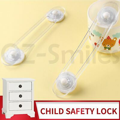 Baby Kids Safety Home Locks Protecter Door Fridge Drawer Proof Latches Set