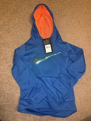 Nike Toddler Girls Therma-FIT Logo-Print Tunic Hoodie Blue Size 4 BNWT