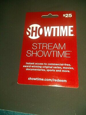 Showtime $25 Streaming Gift Card ☆ Brand New ☆ Activated ☆ Physical Card Mailed