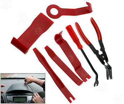 7PCS Car Door Upholstery Trim Clip Removal Pliers & Body Moulding Removing Tools