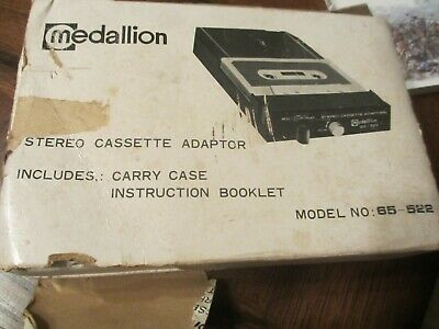 Medallion STEREO CASSETTE ADAPTOR with Carry Case 8-Track