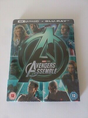 Marvel Avengers Assemble 4K Blu-ray Steelbook Zavvi UK BRAND NEW DAMAGED