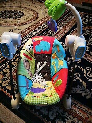 Baby Fisher Price Luv U Zoo Spacesaver Swing & Seat