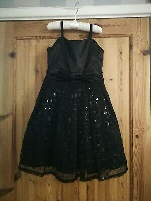 George Black Girls Party Dress. Tuille Layers. Sequins. 6/7. Christmas