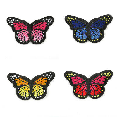 5x Lovely Butterfly Iron-On Patches Badge Applique Sticker DIY Sewing Handcraft