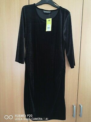 Black Velvet Size 12 Maternity Dress By Blooming Marvellous at Mothercare
