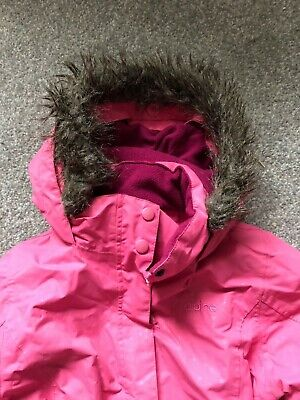 Girls Alpine Ski Jacket pink Age 7 - 8 Years excellent condition used once