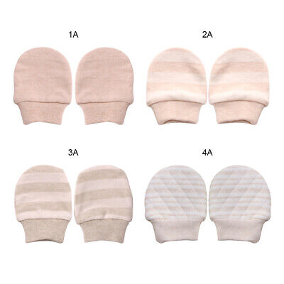 2Pcs Unisex Infant Anti Scratch Mittens Gloves Baby NewBorn Cotton Children UK