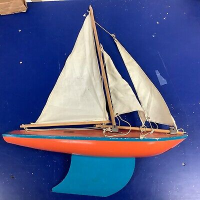 Large Vintage Star Yacht SY4 Sailboat pond boat Birkenhead Made in England