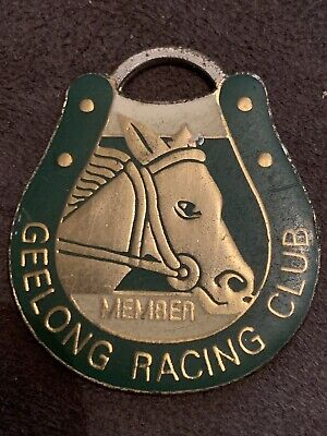 Genuine 1997-1998  Geelong Horse Racing Club  Members  Badge - Number #0886