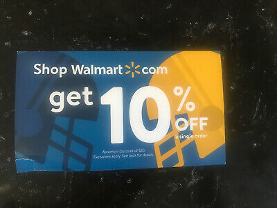 Walmart.com 10% Off Coupon Max $20 discount expires on Jan 15th (1 hr delivery)