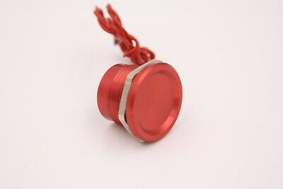 "Touch Switch Red Aluminum 0-24v, 7/8"" Hole, Piezo Tech, Military Spec NEW"