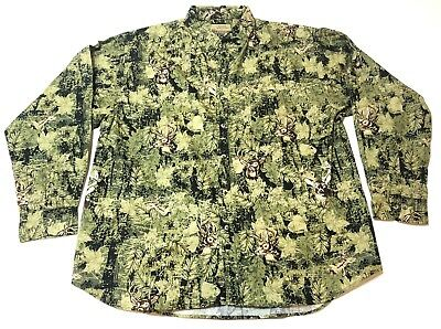 Field Tested by Outdoor Life Mens 2XL Shirt Deer Camouflage HuntIng Green