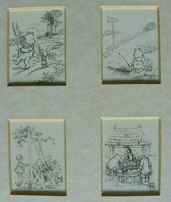 Lovely Winnie the Pooh sketches Framed Print - four miniatures