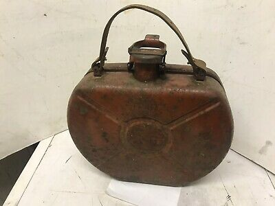 Vintage Bradly 1.3 Gallon Petrol Can For Fitting In Spare Wheel.no Leaks.