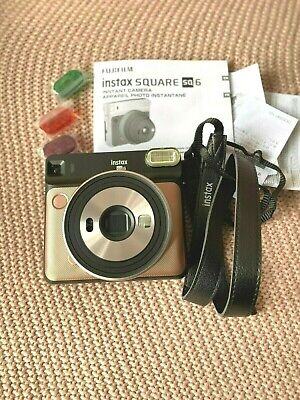 Fujifilm Instax SQUARE SQ6 Instant Camera - Brush Gold
