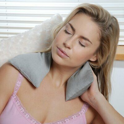 Soothing & Fully Microwavable Body Neck Shoulder Knee Wrap Cold Packs - Grey