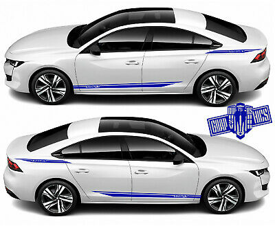 4x Decal Sticker Vinyl Side Racing Stripes for Peugeot 508