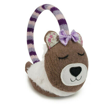 Fully Heatable Luxury Knitted Bear Ear Muffs