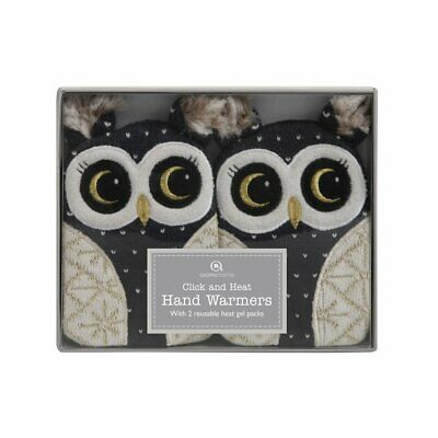 Click and Heat Luxury Knitted Owl Hand Warmers