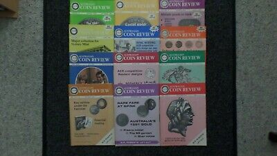 12 Issues of Australian Coin Review September 1980 - February 1981 to Dec 1981