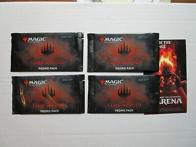 4 MTG Core 2020 Promo packs and SDCC promo code for MTG Arena