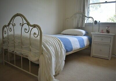 French Provincial style single bed and frame ( not accessories shown )