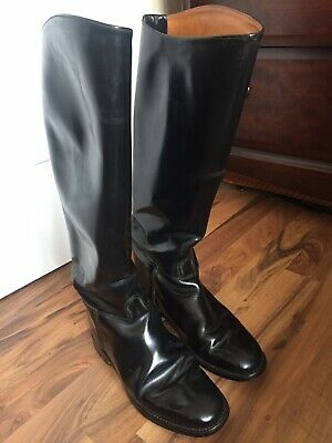 Regent Europa Black Leather Riding Boots Size 9 In Various Length /& Calf Sizes