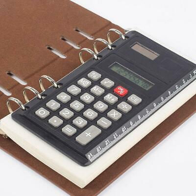 BIN A6 Creative Loose Leaf Binder Spiral Calculator Digits 8 Calculat Solar Z9V4