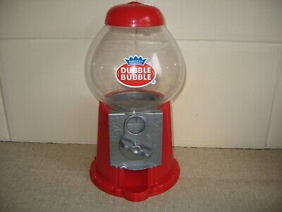 Dubble Bubble Red Gum Machine Bank Dispenser Vintage Style Gumball   Used