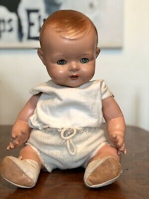 Gorgeous Composition Baby Doll. Circa 1920. Excellent Cond. Sleepy Tin Eyes.