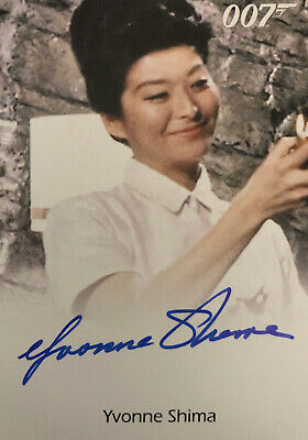 James Bond Archives 2015 Rare Yvonne Shima As Sister Lilly EL Autograph Card