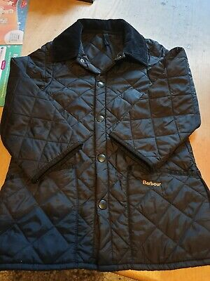 Children's unisex Barbour Jacket Size Small in black. Genuine Barbour.