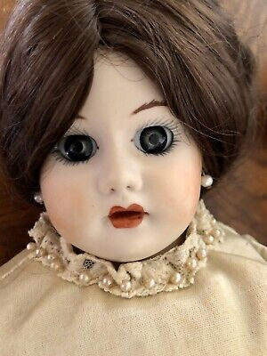 Repro Circa 1910 Cuno & Dressel Adult Doll. Original Silk Clothing. Xlnt Cond