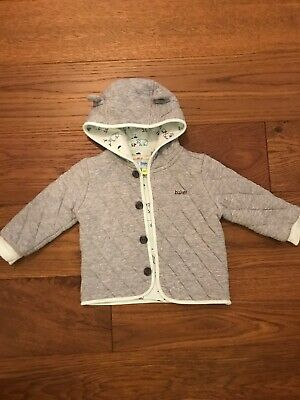 Ted Baker Baby Boys Hooded Jersey Jacket Age 9-12 Months Ex Con