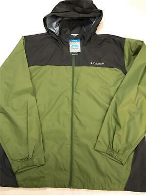 New Columbia Men's Glennaker Lake Waterproof Breathable Rain Jacket, Green, XXL