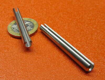 18-8 Stainless Steel Slotted Metric Spring Pin M5 Dia x 45 mm Length, 30 pcs
