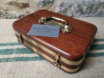 An Antique Mahogany Brass Bound Box