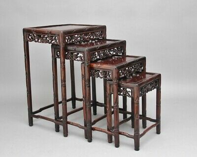 19th Century Chinese nest of four tables