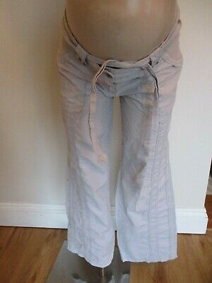 Next Maternity Stone Under Bump Cotton Cargo Trousers Size 10