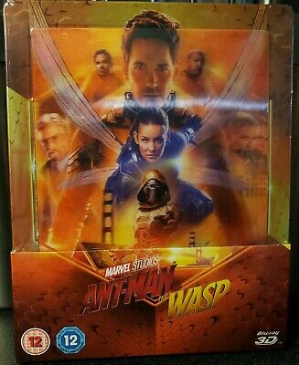 Ant-Man And Wasp STEELBOOK - (3D Blu Ray + Blu Ray)  Zavvi Lenticular Exclusive