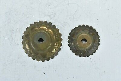 Antique SET of 2 VICTORIAN CAST COPPER DRAWER ESCUTCHEON ROSETTE HARDWARE #08359