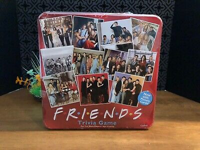 NEW SEALED Friends TV Show Trivia Board Game Cardinal 2003 Collectible Red Tin