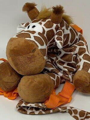 Animal Planet Giraffe Plush Soft Backpack Bag Harness With Toddler Safety Leash