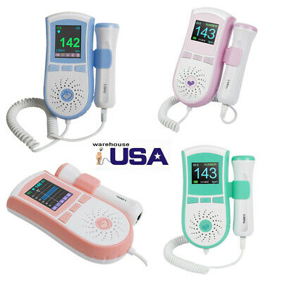 3MHz Probe Pocket Fetal Doppler , Baby Heart Monitor, Vascular Doppler LCD +GEL