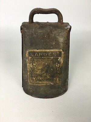 Antique Cow Bell Kentucky No. 2 By Sargent & Co. New Haven CT