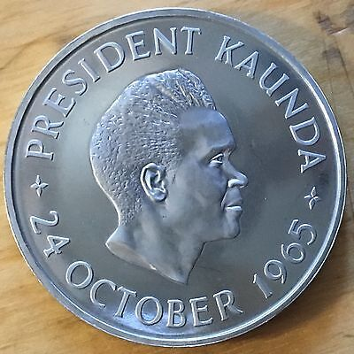 Zambia 1965 5 Shillings; KM-4; Proof (#cr105)