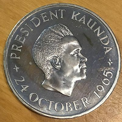 Zambia 1965 5 Shillings; KM-4; Proof (#cr25)
